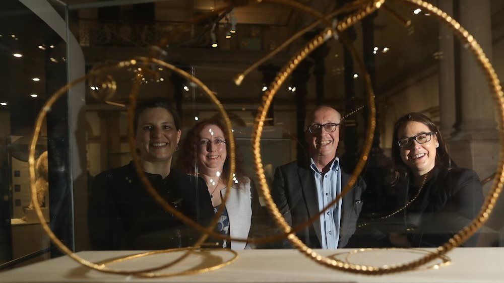 Left to Right: Lynn Scarff, Dr. Sorcha O'Brien, Nigel Monaghan & Dr. Audrey Whitty